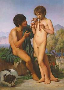 The Flute Lesson, 1858 von Jules Elie Delaunay