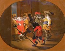 Monkeys disguised as soldiers by David the Younger Teniers