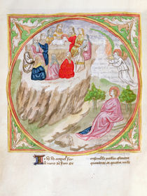 Ms. 28/1378 fol.83v The Lamb on Mount Zion von French School