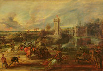 Tournament by the Moat of Steen Castle von Peter Paul Rubens