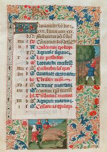 Calendar depitcing November by Flemish School