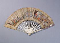 Fan with illustrations from 'The Countess of Cagliostro' von French School