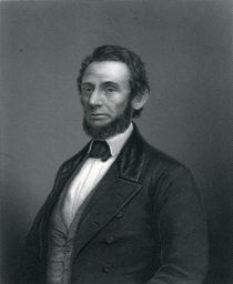 Abraham Lincoln, engraved by H. C. Balding von English School