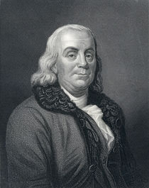 Benjamin Franklin, 19th Century von English School