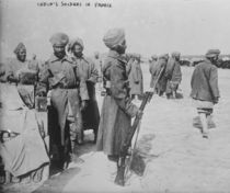 India's soldiers in France by French Photographer
