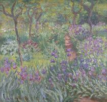 The Artist's Garden in Giverny von Claude Monet