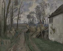 A Village Road near Auvers by Paul Cezanne