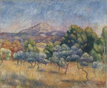 Mount of Sainte-Victoire, c.1888-89 by Pierre-Auguste Renoir