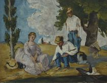 Picnic on a Riverbank, 1873-74 by Paul Cezanne