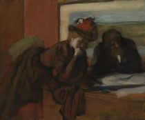 The Conversation, 1885-95 von Edgar Degas