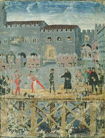 Execution in Ferrara, from the 'Livre des Condamnés par la Justice' by Italian School