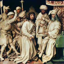 Pilate Washing his Hands, left panel from a triptych by Hans Holbein the Elder