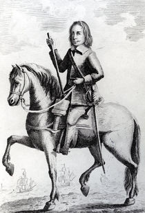 Portrait of Major General Desborough on horseback von English School