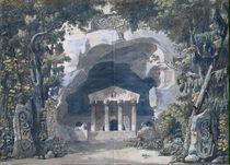 Scenery Sketch for the Opera 'Frigga' by Louis Jean Desprez