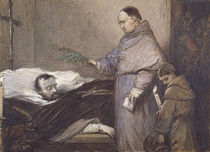 Martin Rithone blessing the body of the Count of Egmont by Louis Gallait