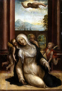 Stigmatisation and Faint of St. Catherine of Siena by G.A.Bazzi Sodoma