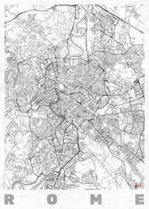 Rome Map Line von Hubert Roguski