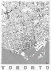 Toronto Map Line by Hubert Roguski