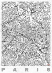 Paris Map Line von Hubert Roguski