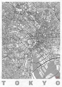 Tokyo Map Line by Hubert Roguski