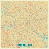 Berlin Map Retro by Hubert Roguski
