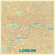 London Map Retro von Hubert Roguski