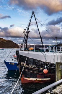 Fishing boat docked at the quay of Portree Harbour, Isle of Skye Scotland von Bruce Parker