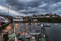 Portree Harbour, Isle of Skye, Scotland at dusk. February 2017 by Bruce Parker