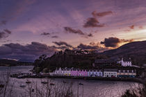 The row of coloured houses on the quay at Portree Harbour, Isle of Skye, Scotland by Bruce Parker