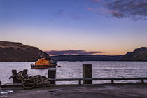 Portree lifeboat, RNLB Stanley Watson Barker, anchored in Portree Harbour, Isle of Skye, Scotland by Bruce Parker