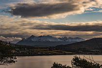 The Black Cuillin Hills mountain range from 'The Lump' in Portree, Isle of Skye, Scotland by Bruce Parker