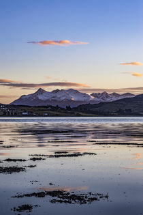 Cuillin Hills Mountain Range, across Loch Portree, on the Isle of Skye, Scotland by Bruce Parker