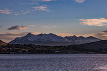 Cuillin Hills Mountain Range, across Loch Portree, on the Isle of Skye, Scotland by Bruce Parker