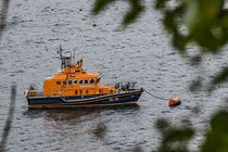 Portree lifeboat, RNLB Stanley Watson Barker, anchored in Portree Harbour, Isle of Skye by Bruce Parker