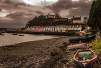 Row of coloured houses along the quay at Portree Harbour, Isle of Skye, Scotland von Bruce Parker