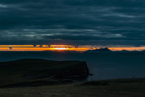 Sunset from Trumpan, on the Waternish Peninsula, Isle of Skye, looking towards the Western Isles by Bruce Parker