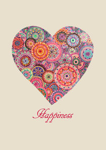 "Heart shaped Mandala ""Happiness"" by Tine Steiss"