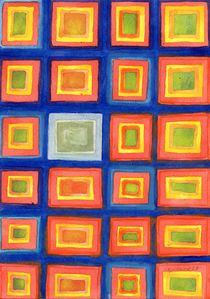 Square Pattern Beaming with Luminous Color  von Heidi  Capitaine