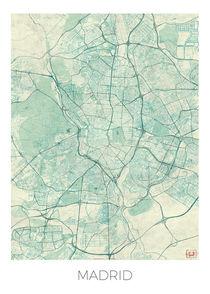 Madrid Map Blue von Hubert Roguski