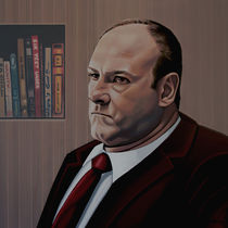 James Gandolfini Painting by Paul Meijering