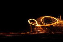 Feuershow am Strand von La Gomera von frakn