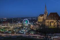 Domplatz Erfurt am Abend by micha-trillhaase-fotografie