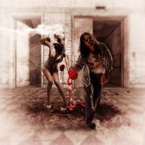 Happy Zombie Wedding Couple by lucia