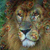 DeepDream – Löwe mit Traumgeschöpfen von schroeer-design