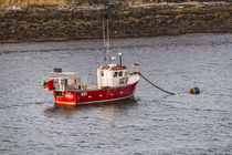 Fishing boat anchored in Loch Beag just off Struan Jetty, Isle of Skye by Bruce Parker