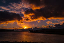 Sunset with crepuscular light across Loch Beag, Isle of Skye by Bruce Parker