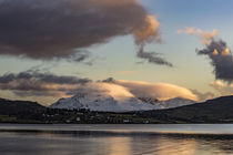 View of Cuillin Hills from Bayfield at Loch Portree, Isle of Skye, Scotland by Bruce Parker