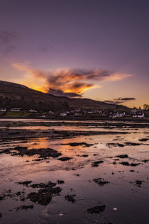 Sunset reflecting off clouds across Loch Portree, March 2017 by Bruce Parker