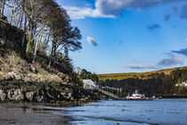 Reverse view of Portree Harbour pier, from the other side of 'The Lump' by Bruce Parker
