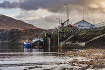 Ben Tianavaig across Portree Harbour, on the Isle of Skye, Scotland by Bruce Parker